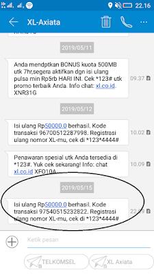 Bukti Pembayaran Pulsa Gratis dari Aplikasi Kredivo Android