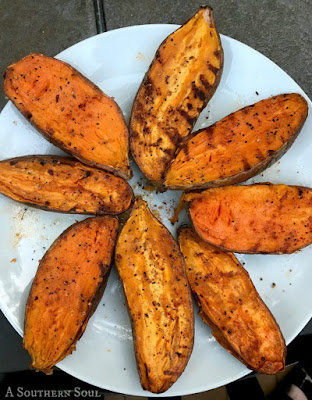 Grilling Bucket List - Grilled Sweet Potatoes #Celebrate365