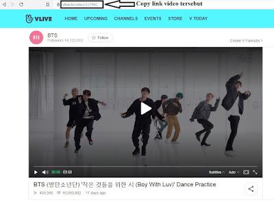 Cara download video kpop di V LIVE