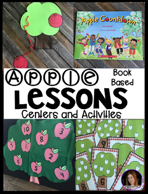 Are you looking for a fun hands-on apple themed unit that revolves around amazing stories? Then, you will love Apple Themed Unit for Preschool. This unit will not only help children learn new vocabulary it will also help them identify colors, shapes, letter and numbers, increase story comprehension, literacy and math concepts, fine-motor and gross motor skills.
