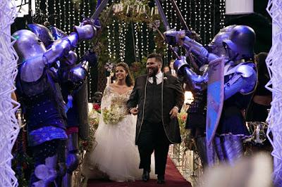 Os noivos durante a cerimônia (Crédito: Victor Silva/RNW)