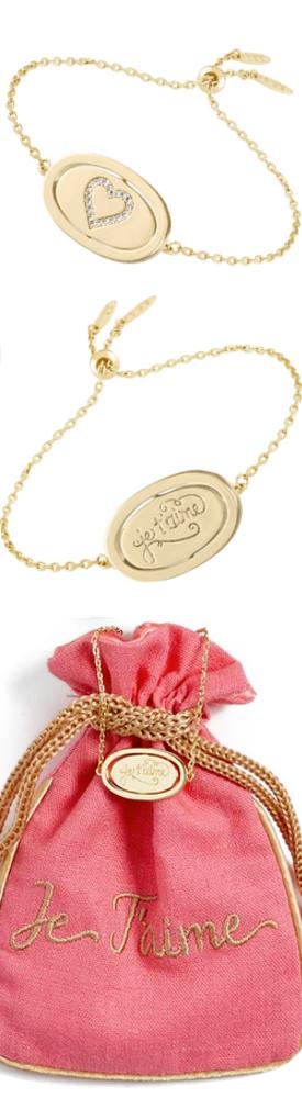 LULU DK Love Letters Spinning Pendant Bracelet