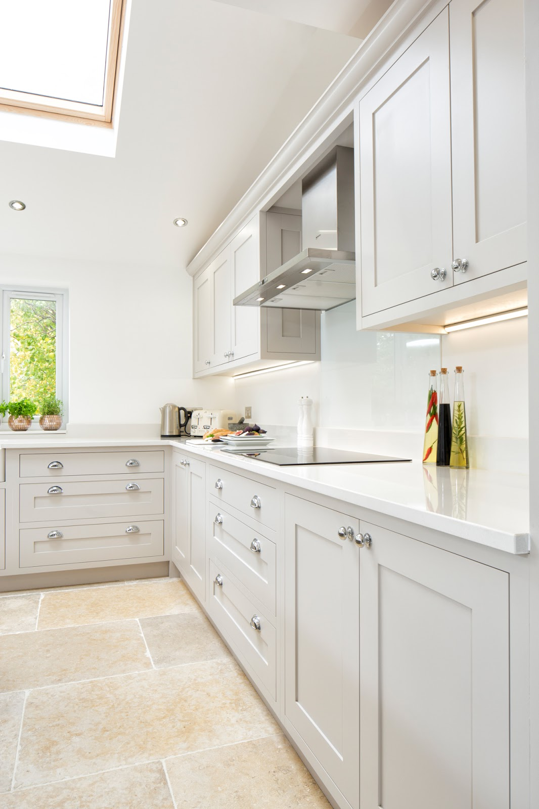 white grey shaker kitchen 2324