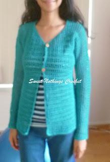 free crochet cardigan pattern, free crochet jacket pattern