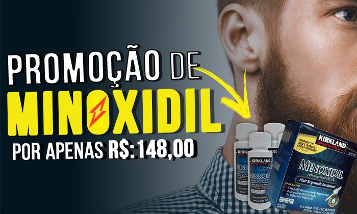 Promoção Minoxidil Kirkland 6 Meses - Biovea
