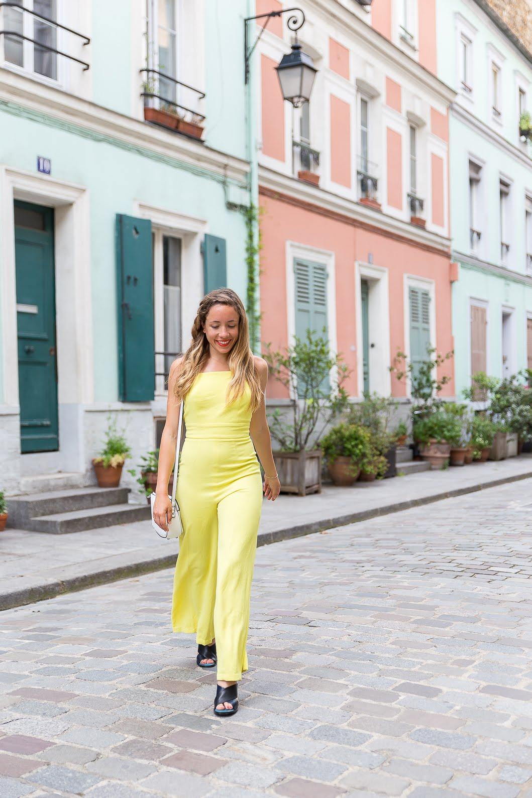 Combinaison pantalon jaune bash