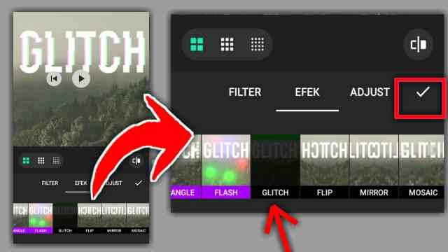 cara membuat efek glitch