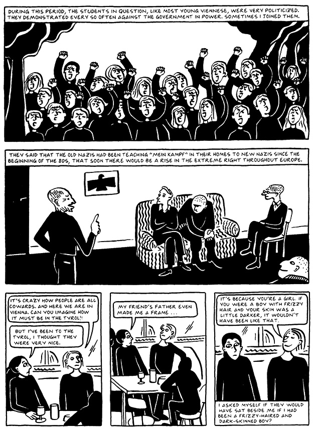 Read Chapter 8 - The Croissant, page 74, from Marjane Satrapi's Persepolis 2 - The Story of a Return