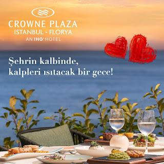 Crowne Plaza İstanbul Florya Sevgililer Günü Programı Menüsü 2020