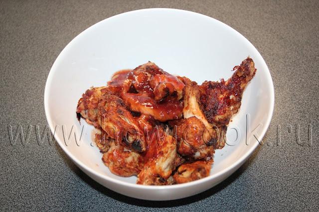 рецепт куриных крылышек в кисло-сладкой глазури с пошаговыми фото