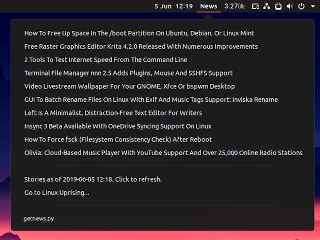 Argos News RSS Feed plugin