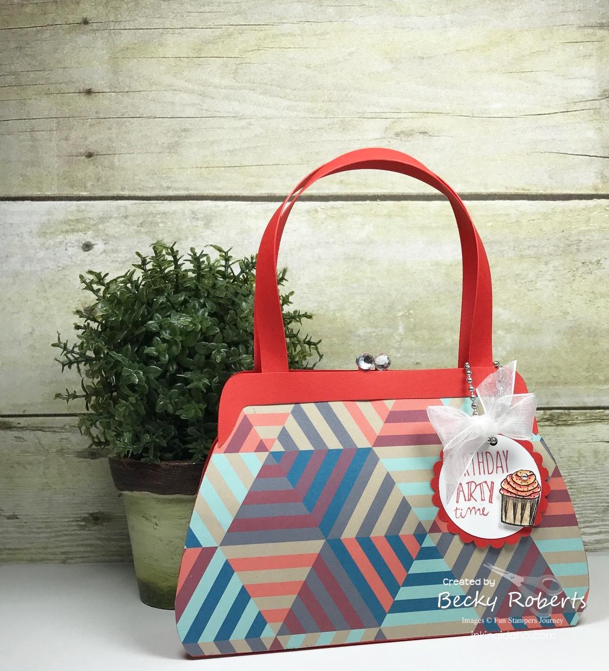 Rich Coral Tres Chic Birthday Handbag
