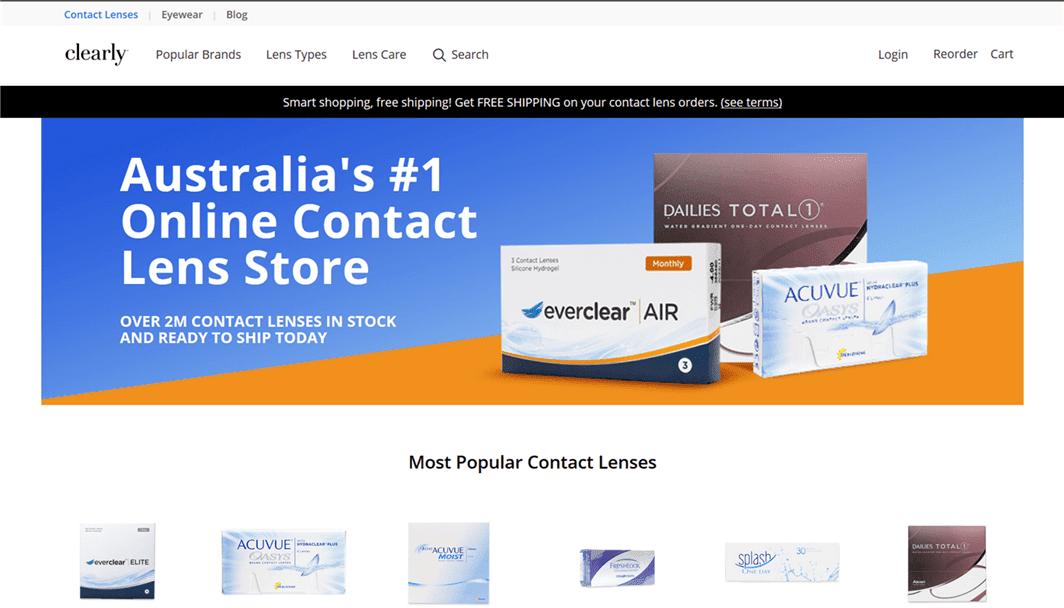 オーストラリアのナンバー1コンタクトレンズ通販ショップ