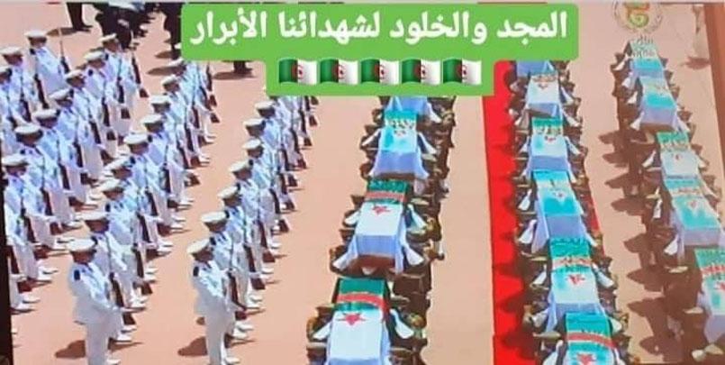 رفات شھداء المقاومة الشعبیة,الشهداء يعودون ... رفات شھداء المقاومة الشعبیة تعود إلى الجزائر.Les restes des martyrs