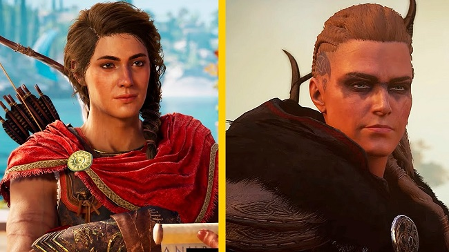 Comparison of Assassin's Creed Odyssey vs AC Valhalla