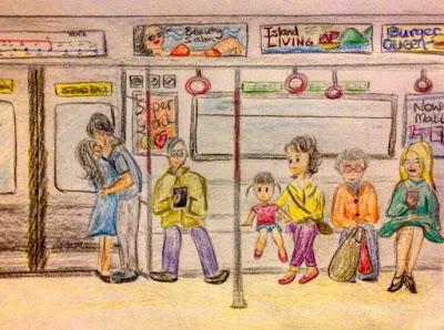 train momdaughter mom hongkong drawing art doodle sketch