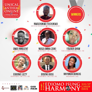 See the winners of Unical Anthem online challenge