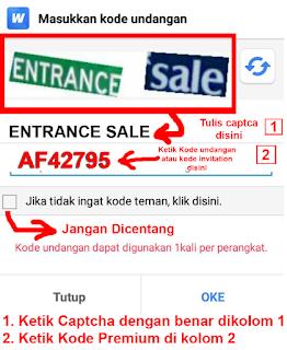 kode premium aplikasi pencari uang
