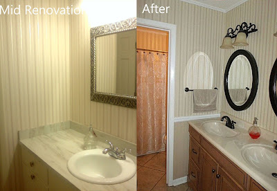 Bathroom Before and After Photograph