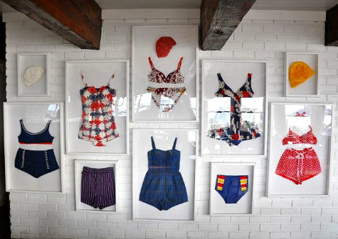 Vintage Bathing Suits Wall Decor