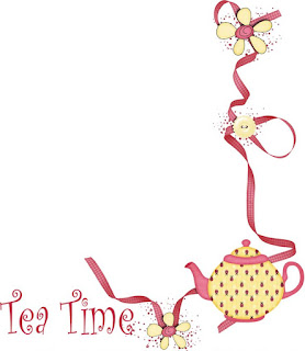 Tea and Cupcakes Clipart.