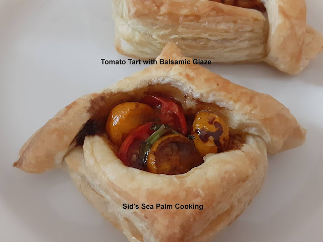 Tomato Tart with Balsamic Glaze