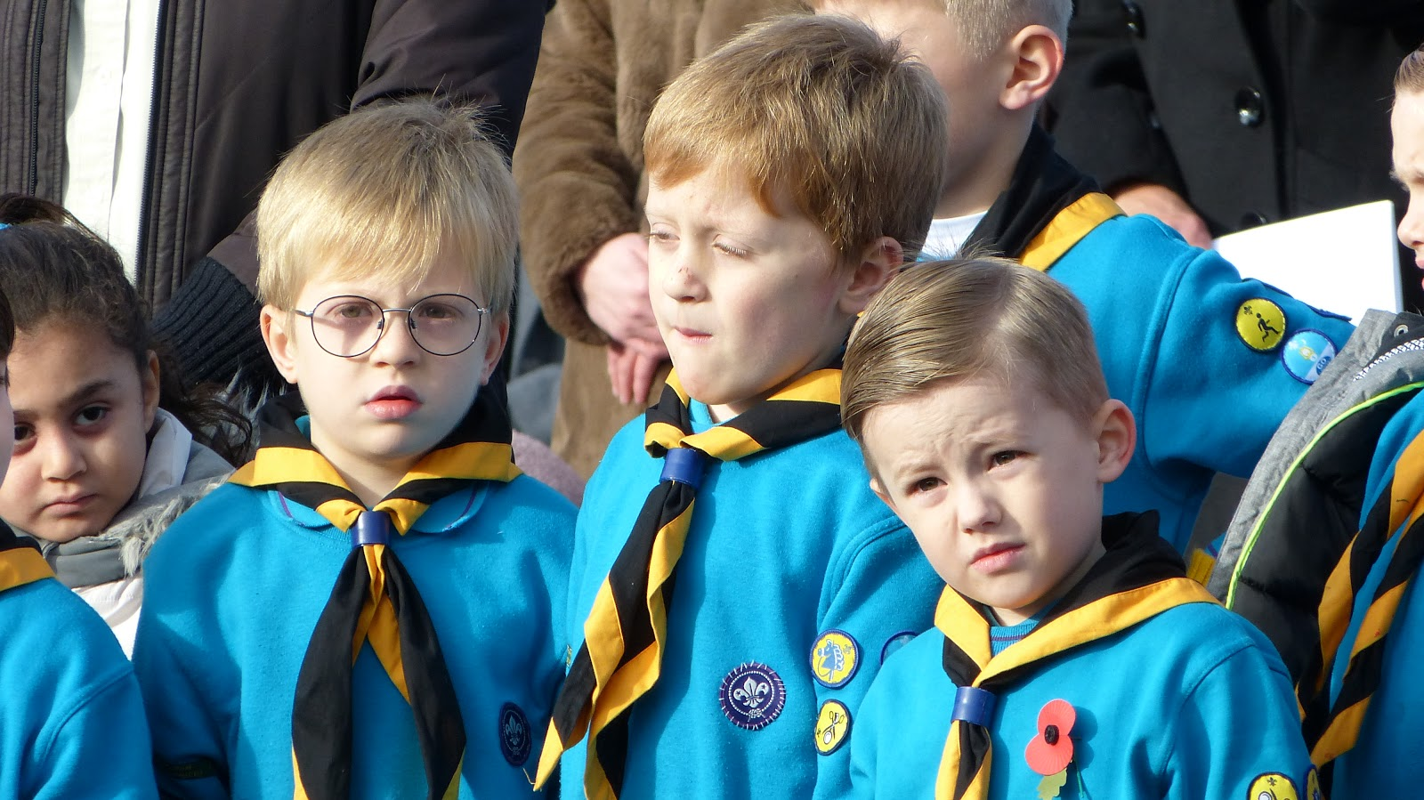 Beavers Remembrance parade 2019 in Castle Bromwich