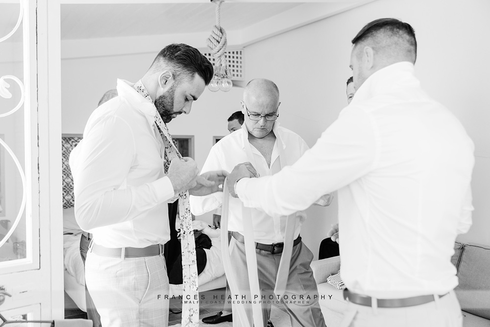 Groomsment getting ready