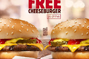 Burger King Promo Buy 1 Get 1 Free Cheeseburger