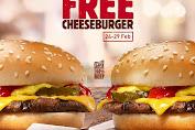 Burger King Promo Buy 1 Get 1 Free Cheeseburger Periode 24-29 Februari 2020