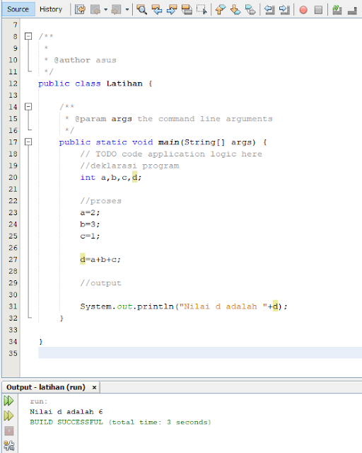 Cara buat program sederhana menggunakan java di netbeans