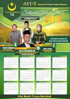 Desain Kalender 2020 Caleg