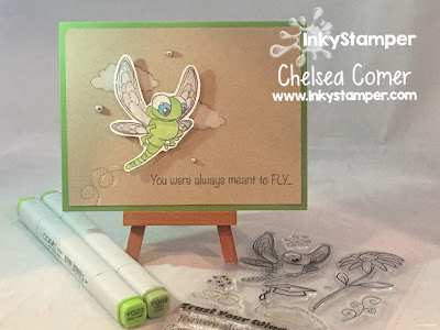 New stamps by InkyStamper with a cute dragonfly