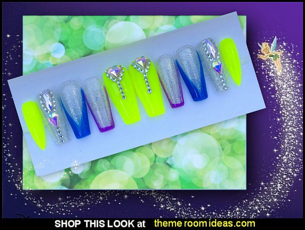 Fairy Dust - Press on nails tinkerbell fairy nail designs tinkerbell fairy