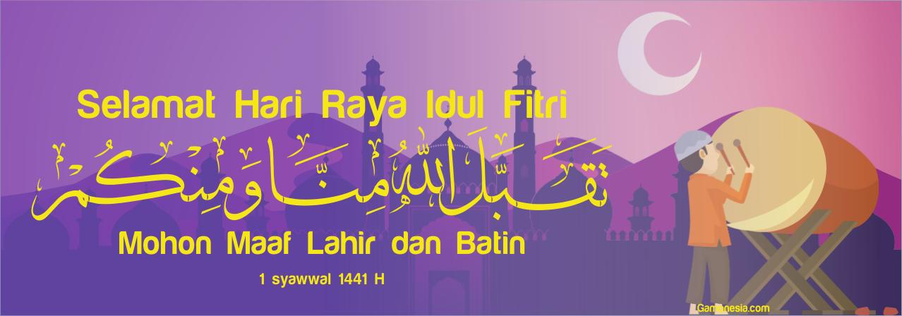 8+ Spanduk, Banner, Baliho Idul Fitri 1441/2020 CDR Terbaik