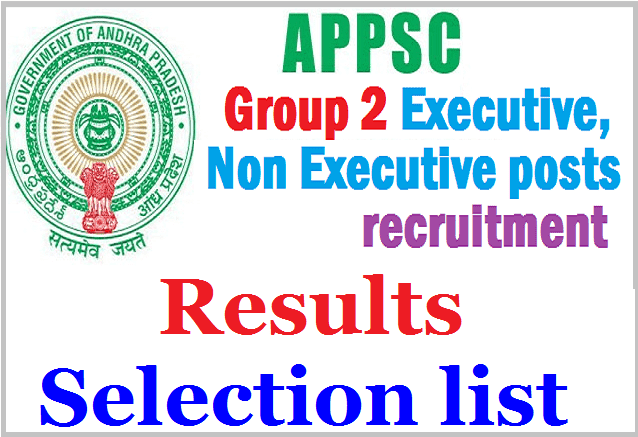 APPSC 1999 Group II Services, Provisional Selection Selection list,Results 2017
