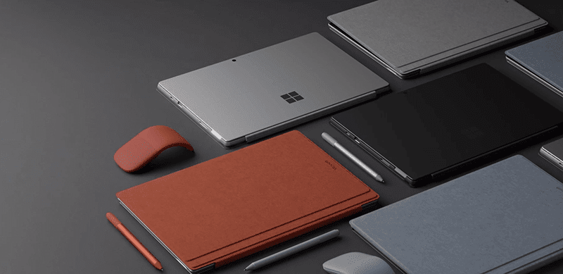 It comes with a free Surface Pro Type Cover keyboard