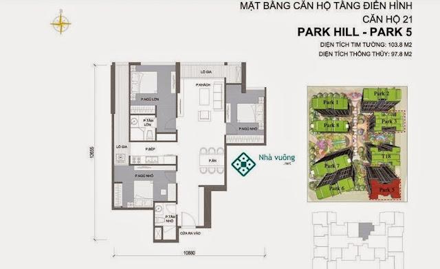 Căn hộ số 21 Times City Park Hill 5