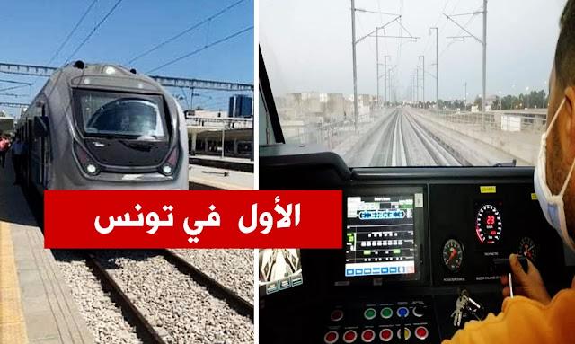 Départ du premier train à grande vitesse à Tunis