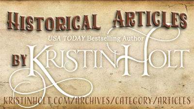 Historical Articles by USA Today Bestselling Author Kristin Holt