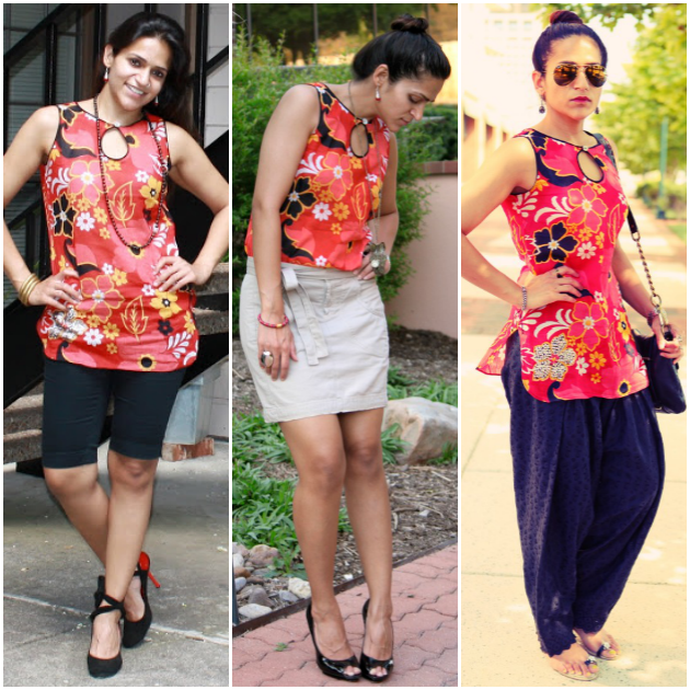 Three Ways To Style A Floral Blouse, Tanvii.com