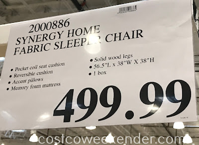 Deal for the Synergy Fabric Sleeper Chair at Costco
