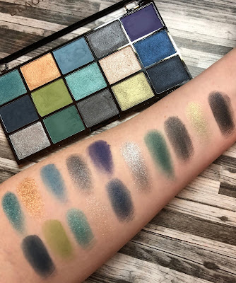Makeup Revolution Reloaded Deep Dive Palette Swatches and Review