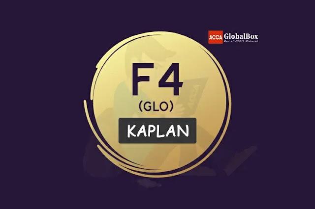 F4 (GLO) - KAPLAN Study Texts, Accaglobalbox, acca globalbox, acca global box, accajukebox, acca jukebox, acca juke box,