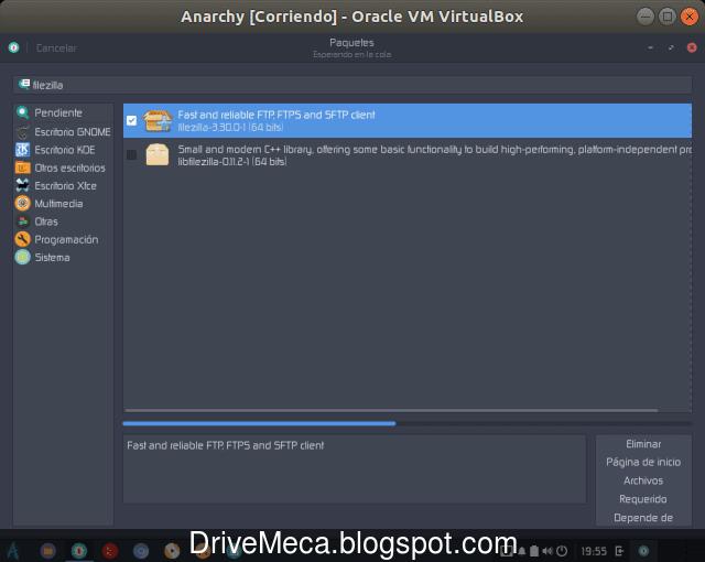 La aplicacion Paquetes descarga e instala la aplicacion buscada