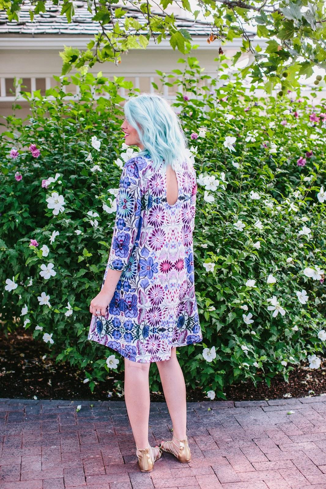 Blue Hair, Anthropologie Dress, Cute Dress