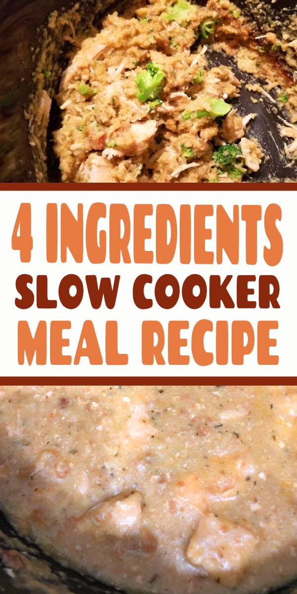 Dump 4 ingredients into a slow cooker. End result is a hearty, tasty chicken and stuffing | This slower cooker meal is hearty, delicious, uses only five ingredients, and leaves you with a protein AND a side dish. No, it's not too good to be true… it's slow cooked chicken with stuffing. Here's how to make it! #slowcooker #healthyrecipes #slowcookerdump #recipesideas #chicken