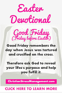 Easter Devotional for Pre Easter Friday or Good Friday