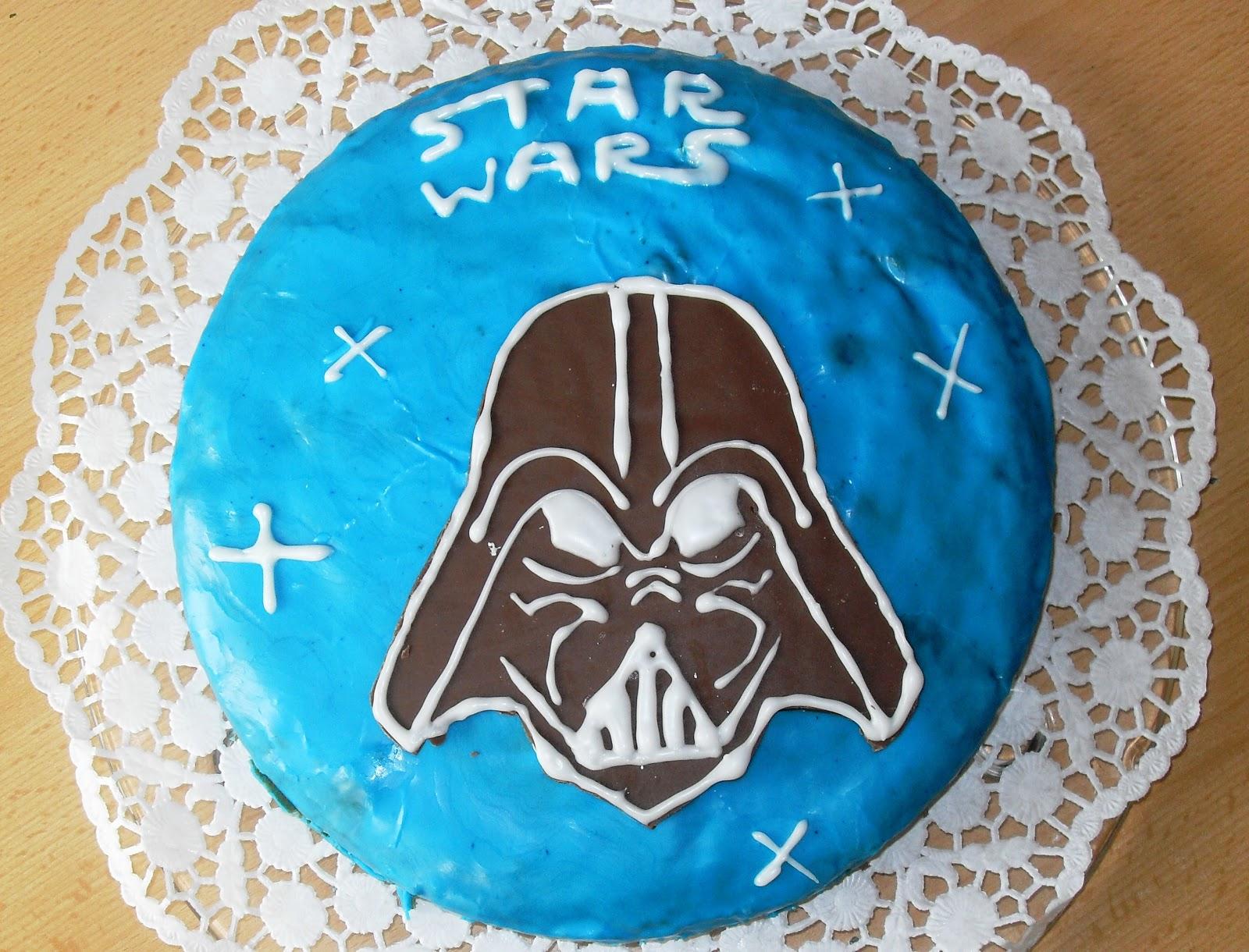 Sannas Hexenkche Star Wars Kuchen  Darth Vader