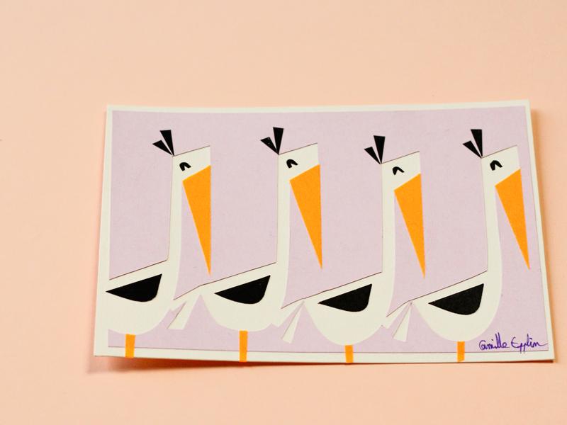 Collages papier découpé par Camille Epplin